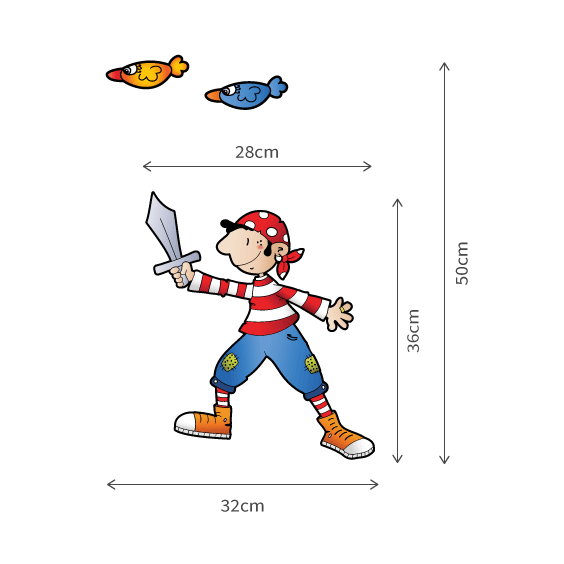 Pirate Boy Wall Decal