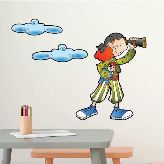 Pirate Girl Wall Decal