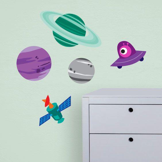 Vinil infantil planetes