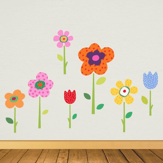Vinil flores da primavera personalizável