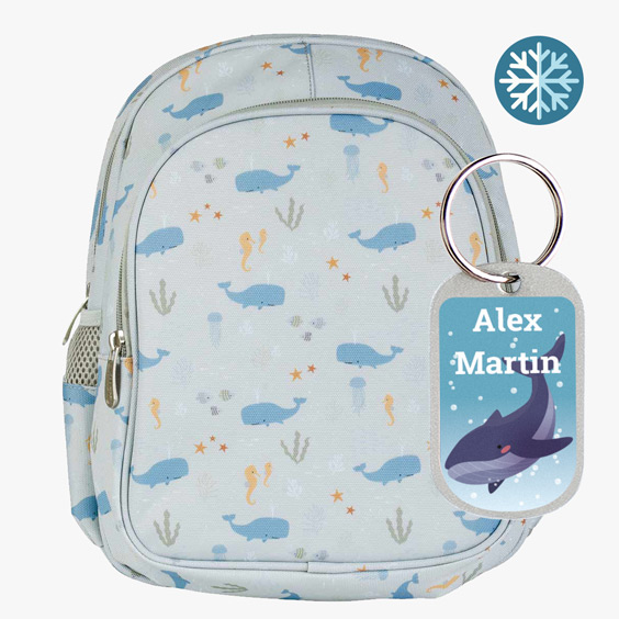 Whale Backpack from A Little Lovely Company