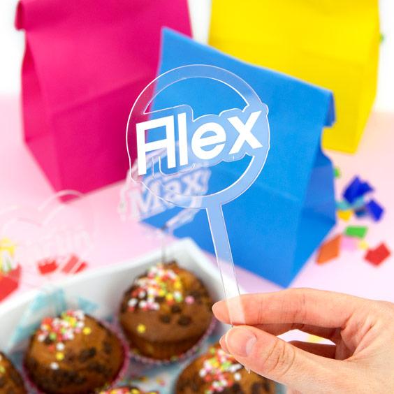Topper personalizzati per cupcake