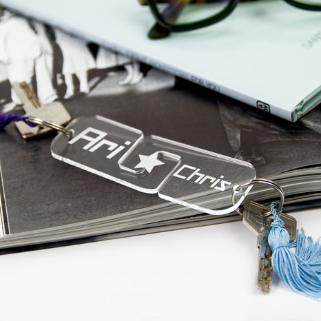 Custom Acrylic Twin Keyrings