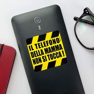 Adesivo Il telefono non si tocca per cellulare