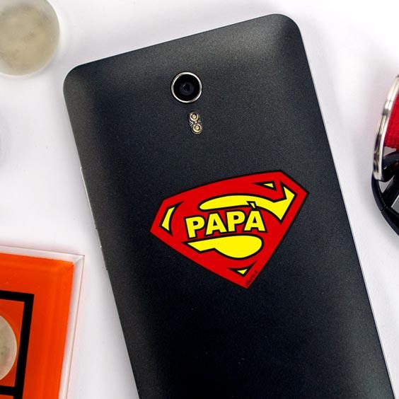 Adesivo simbolo Superpapà per cellulare