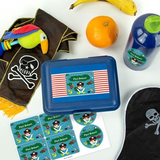Etiquettes à thème pour lunch box et gourde
