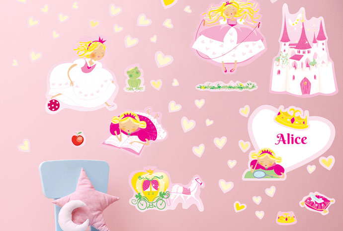 Stickers Princesses et château