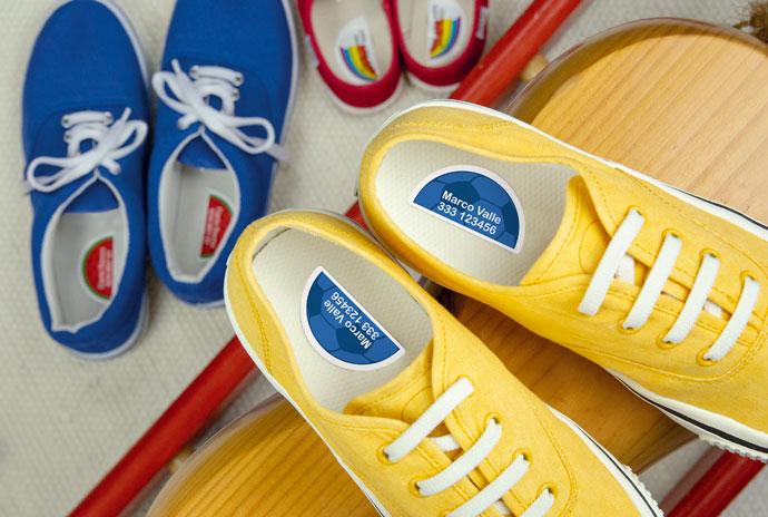 Etichette per scarpe