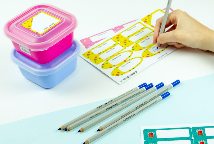 Dry erase marker for lunch boxes