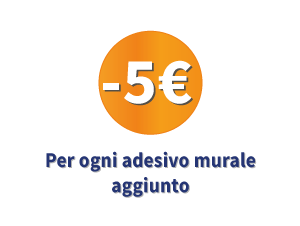 5€ per ogni lavagna adesiva aggiunta