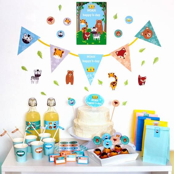 Etiketten-Pack zur Dekoration von Geburtstagen