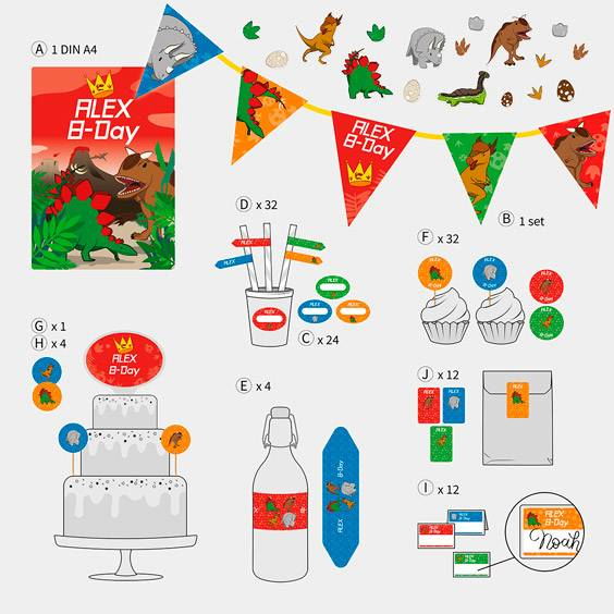 Birthday decoration sticker pack