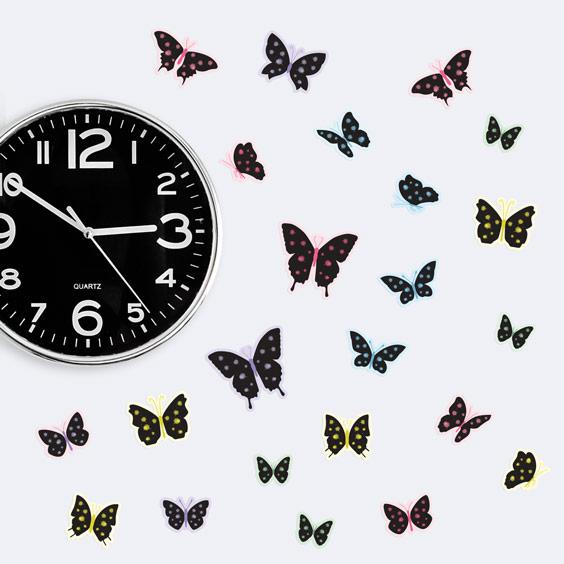 Decorazione Farfalle in nero con schizzi