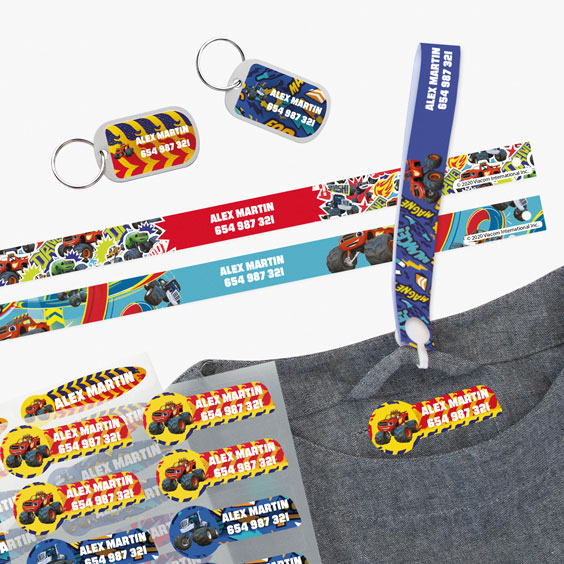 Blaze Hanging Loops, Iron-On Labels and Tags for Backpacks