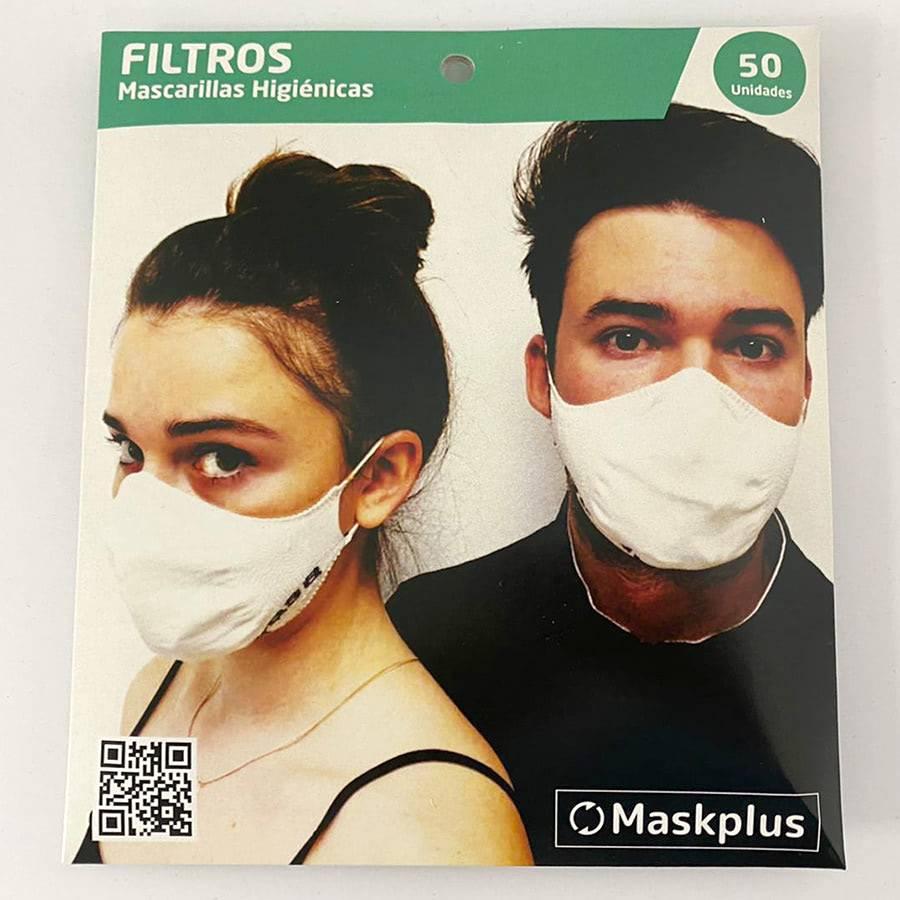 50 filtros de papel para máscaras adultos