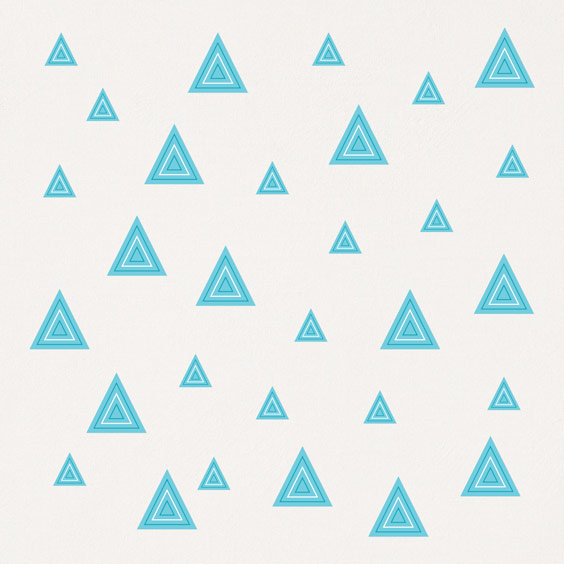 Vinilo de triangulos azules con rayas