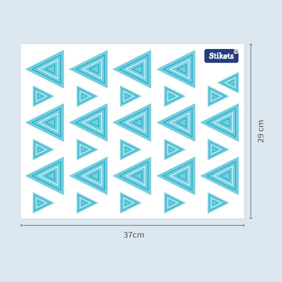 Stickers Triangles bleu concentrique