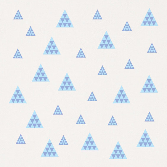 Stickers Triangles bleu mosaïque