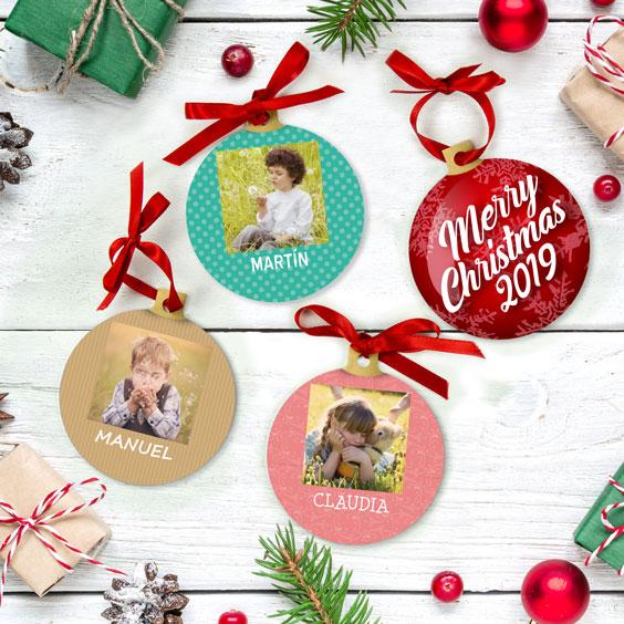 Bolas de Navidad personalizadas con foto cuadrada