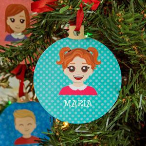 Bolas de Natal personalizadas com um ícone