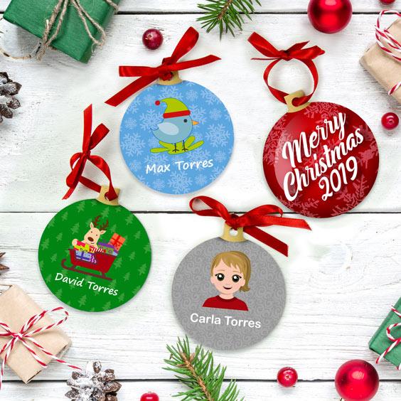 Bolas de Navidad personalizadas con icono
