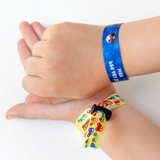 Removable, Reusable Fabric ID Bracelets for Kids