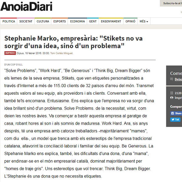 Stephanie Marko, empresària: ...