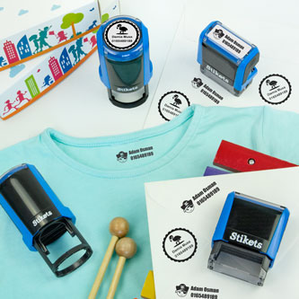 Personalised name stamps for clothes and belongings