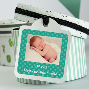 Square Party Favour Photo Stickers