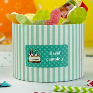 Rectangular labels for birthdays