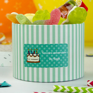 Etiquetas retangulares para aniversários