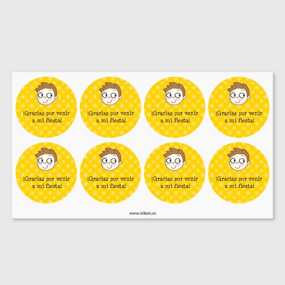 Etiquetes rodones per a aniversaris