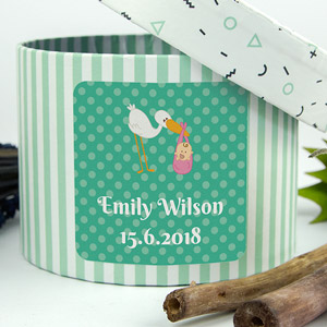 Square Baptism Favour Stickers