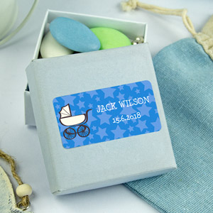 Rectangle Baptism Favour Stickers