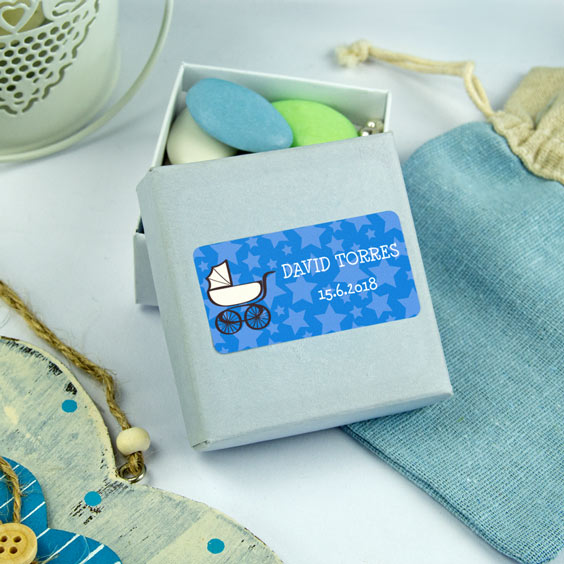 Etiquetes rectangulars per a batejos