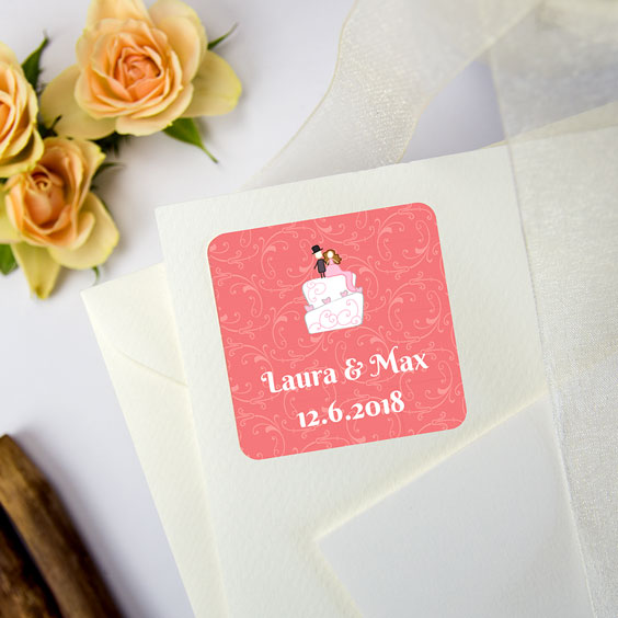 Etiquetes quadrades per a casaments