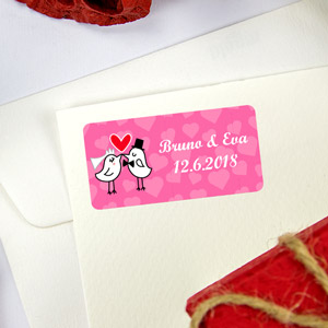 Rectangular labels for weddings