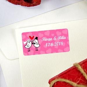 Etiquetas para lembranças e presentes para Casamentos