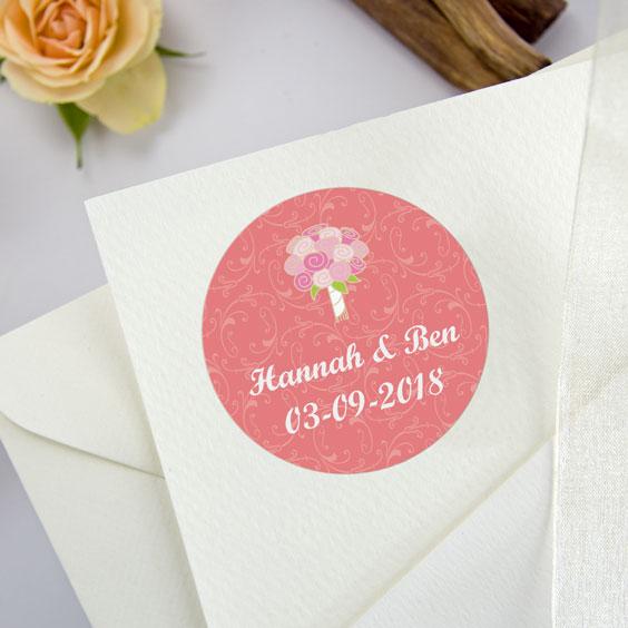 Runde Aufkleber für Hochzeiten