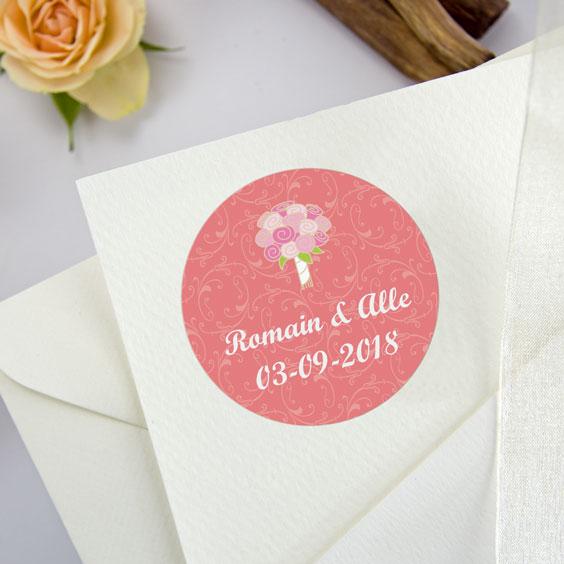 Etiquette mariage ronde