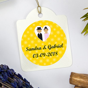 Round labels for weddings