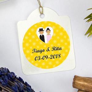 Etiquetas redondas para casamentos