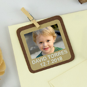 Square Photo Labels for 1st Communions