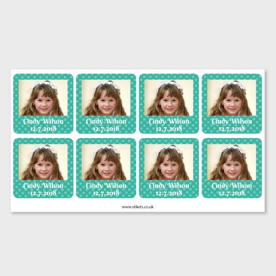 Square Photo Sticker for 1st Communion