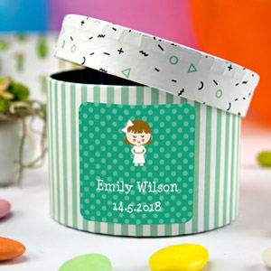 Square First Communion Favour Stickers