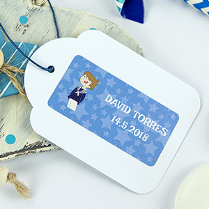 Rectange 1st Communion Sticky Labels