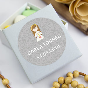 Round labels for 1st Communions