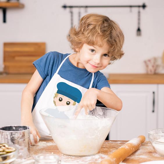 Delantal de cocina para niños personalizado