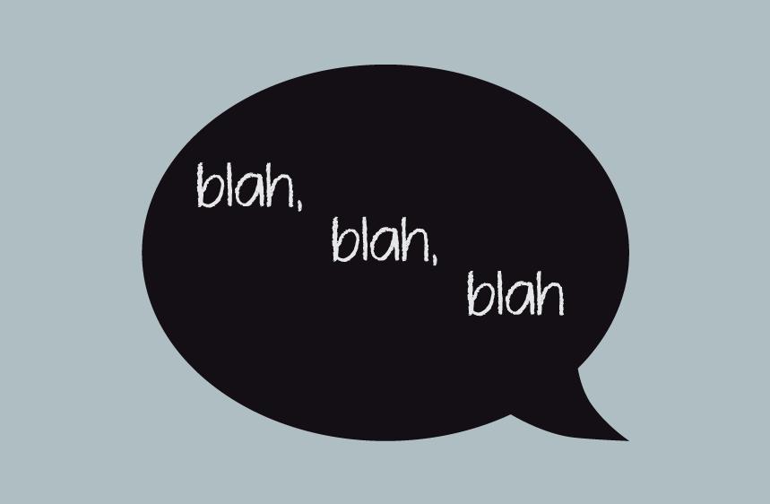 Vinilo de pizarra conversación