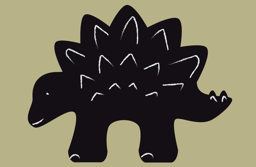 Vinilo de pizarra dinosaurio